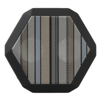 Muted Modern Stripes Black Bluetooth Speaker