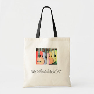 Muted Multicolored Guitars Tote