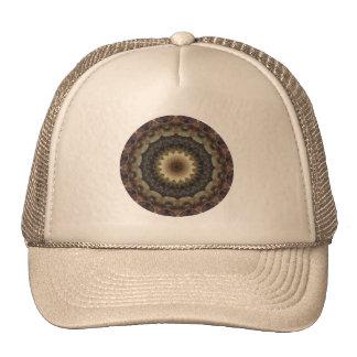 Muted Pastel Seashells Mandala Kaleidoscope Cap