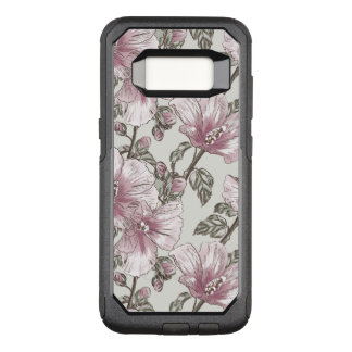 Muted Pink Hibiscus Flowers Pattern OtterBox Commuter Samsung Galaxy S8 Case
