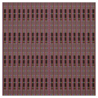 Muted Somber Burgundy Abstract-Patterned Fabric