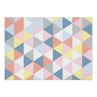 Muted Triangle Poster