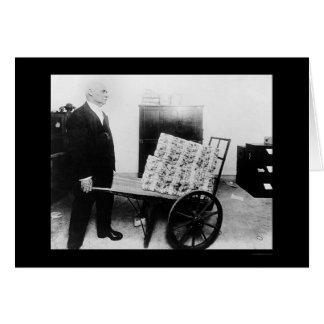 Mutilated Money on Wheelbarrow 1920 Card