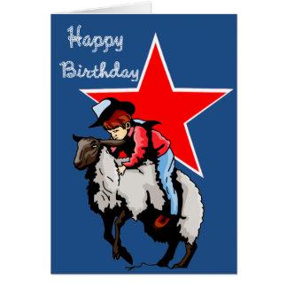 Mutton Bustin Birthday Card