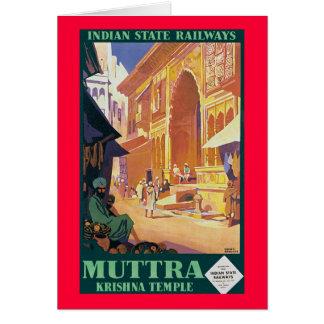 Muttra ~ Krishna Temple Greeting Card