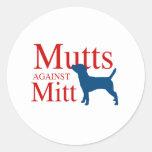 Mutts against Mitt Round Sticker