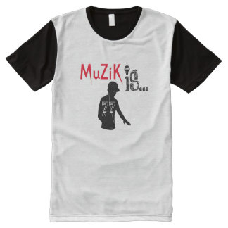 MuZiK iS... duo sport with DJ All-Over Print T-Shirt