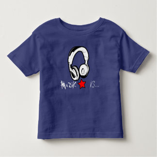 MuZiK is... Toddler TShirt with headphone and star