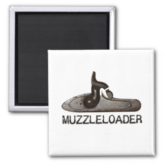 Muzzleloader breech & hammer, black powder rifle square magnet