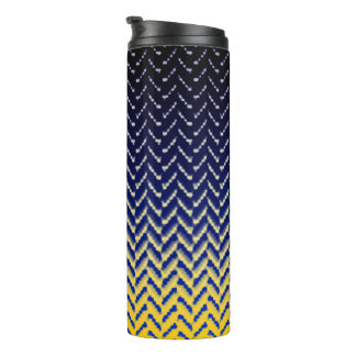 MVB Cheron Blue Yellow Design Tumbler Thermal Tumbler