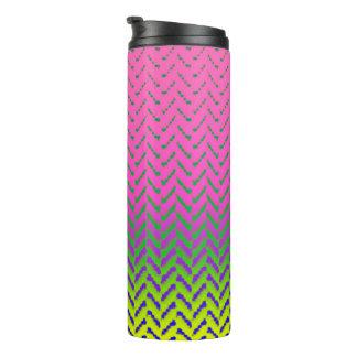 MVB Chevron Rainbow Pink Design Tumbler Thermal Tumbler