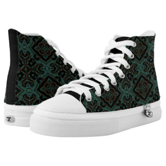 MVB Turquoise Geo Zip Z High Shoe Printed Shoes