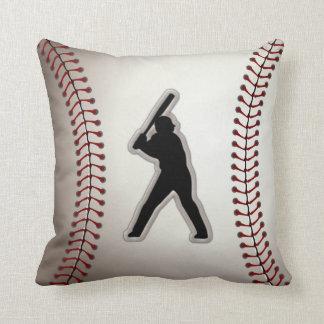 MVP Baseball Player - Cool Baseball Stitches Look Throw Pillows
