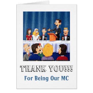 Mwedding MC Thanks Greeting Card