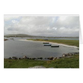 Mweenish Island Boats, Galway Card