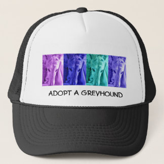 Mx4 design  ADOPT A GREYHOUND trucker hat