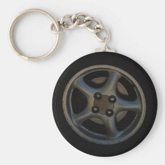 MX5 wheel key-ring Basic Round Button Key Ring