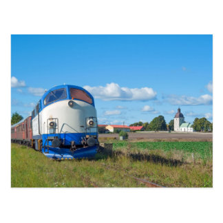 MX 1009 with special train in Viby Postcard