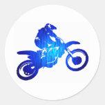 MX BLUE BEAT ROUND STICKER