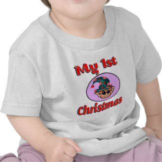 My 1st Christmas (Elf) Baby Clothes Tee Shirts