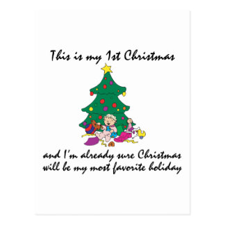 My 1st Christmas Gift Post Card