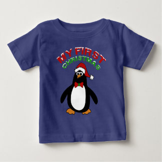 My 1st Christmas Penguin Baby T-Shirt