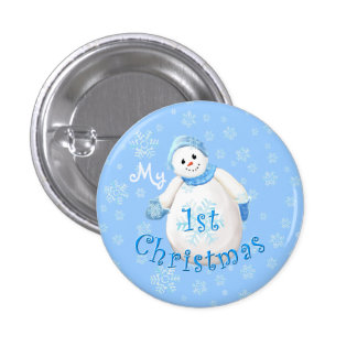 My 1st Christmas Snowman Pin