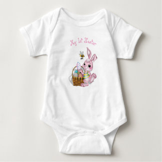 My 1st Easter Pink Bunny Baby Bodysuit