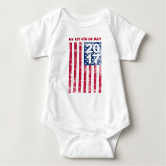 My 1st Fourth Of July 2017 Commemorative Baby Bodysuit