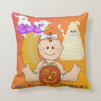 My 1st Halloween Throw Pillow