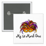 My 1st Mardi Gras Baby Pinback Buttons