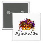 My 1st Mardi Gras Baby Pinback Buttons
