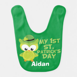 My 1st St. Patrick's Day Cute Green Bib