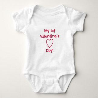 My 1st Valentine's Day!-Baby Baby Bodysuit