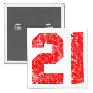 My 21st Birthday Gifts 15 Cm Square Badge