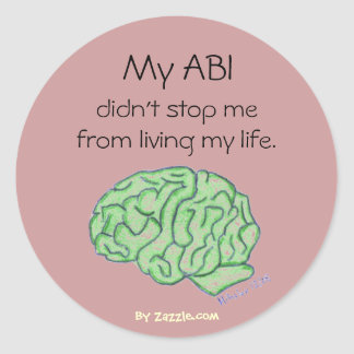 """My ABI didn't stop me"" sticker"