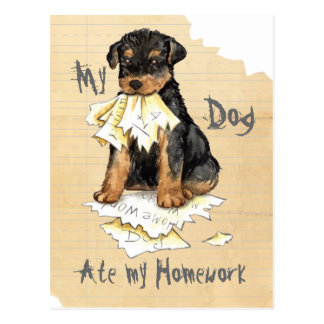My Airedale Ate My Homework Postcard