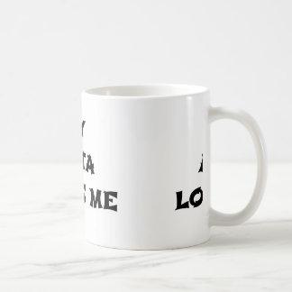 my akita loves me coffee mug