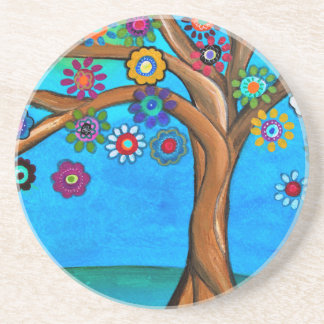 MY ALLY TREE OF LIFE WHIMSICAL PAINTING COASTER