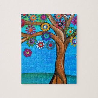 MY ALLY TREE OF LIFE WHIMSICAL PAINTING JIGSAW PUZZLE