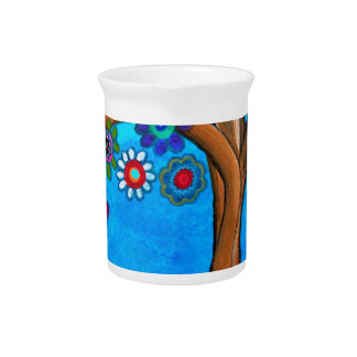 MY ALLY TREE OF LIFE WHIMSICAL PAINTING PITCHER