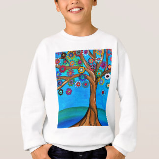 MY ALLY TREE OF LIFE WHIMSICAL PAINTING SWEATSHIRT