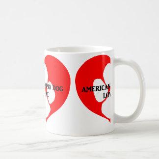 my american eskimo loves me coffee mug