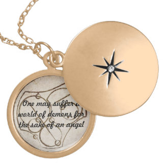 my angel gold plated necklace