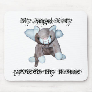 My Angel Kitty protects my mouse Mouse Pad