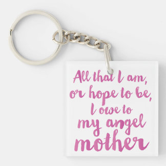 My angel Mother's Day acrylic keychain