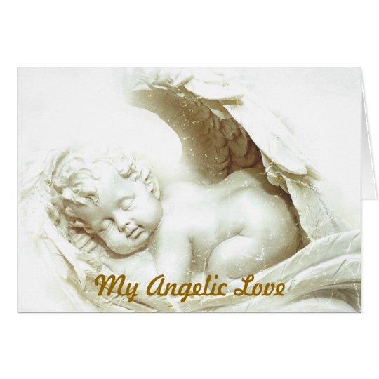 My Angelic Love Greeting Card-Customise Card