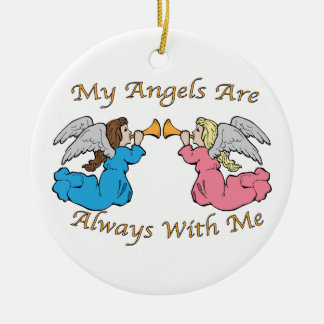 My Angels Are Always With Me Christmas Tree Ornaments