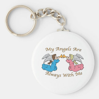 My Angels Are Always With Me Key Chains