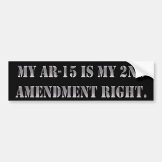 My AR-15 is my 2nd Amendment Right Bumper Sticker